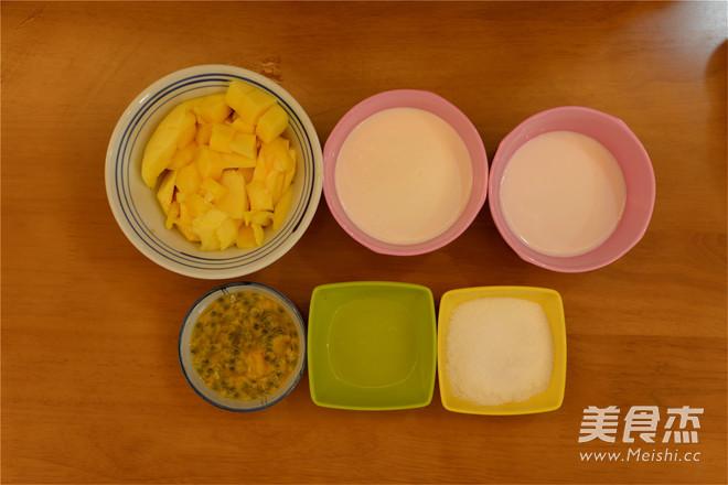 百香芒果冰淇淋的步骤