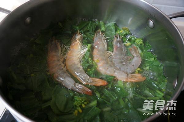 海虾青菜汤的简单做法