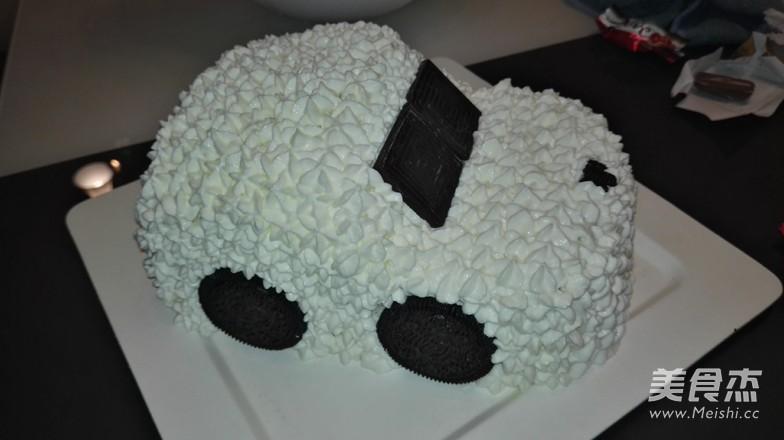 简易版汽车生日蛋糕的步骤