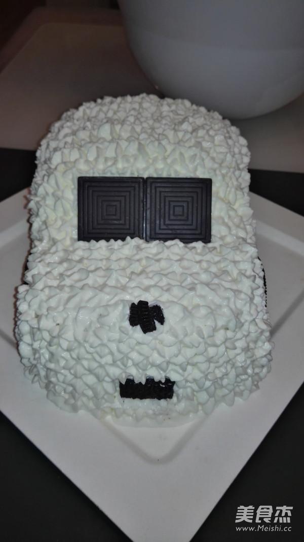 简易版汽车生日蛋糕成品图