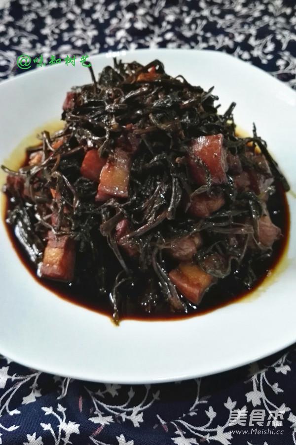 香椿头烧肉成品图