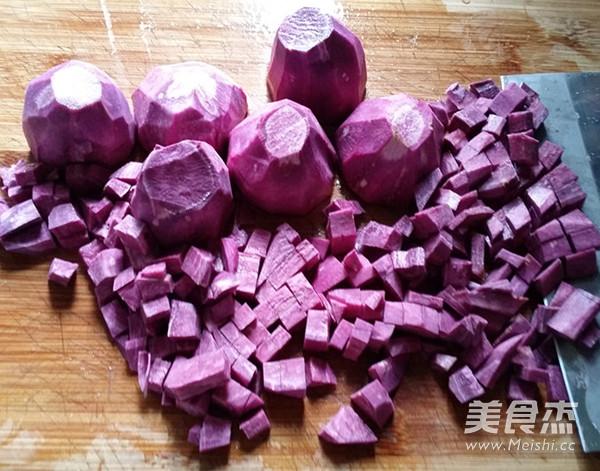 紫薯菊花小面包怎么做