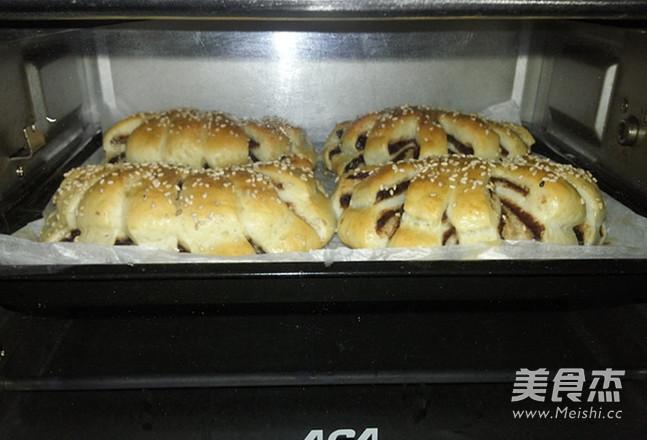 豆沙扇形面包的制作