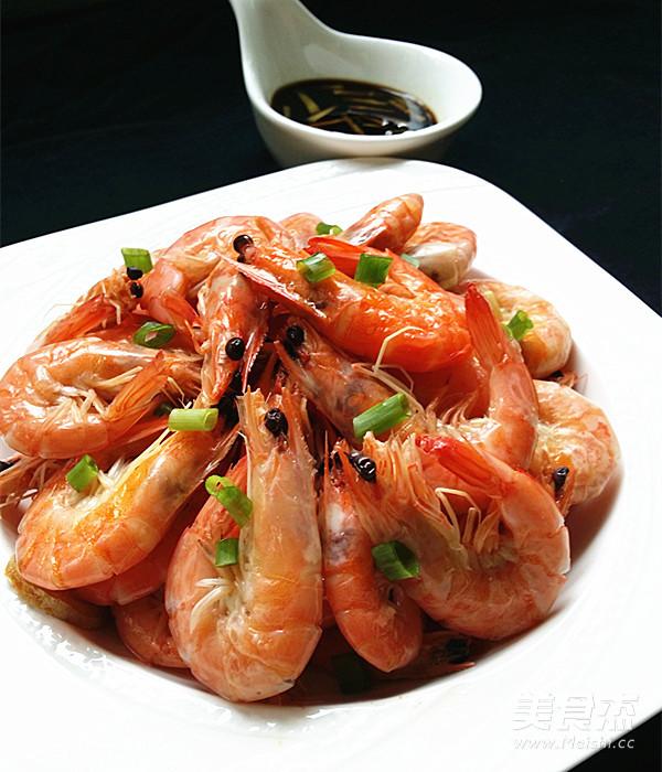 盐水对虾成品图