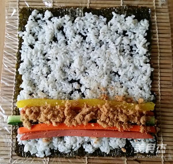 火腿肉松寿司怎么炒
