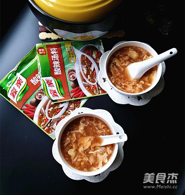 酸辣汤成品图