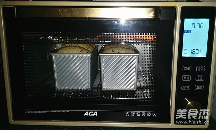 黑芝麻吐司(65度汤种)的制作方法
