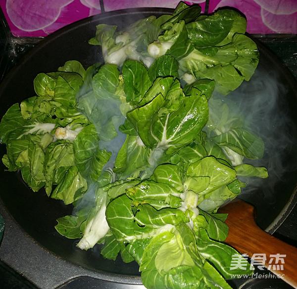 咸肉炒青菜苔的家常做法