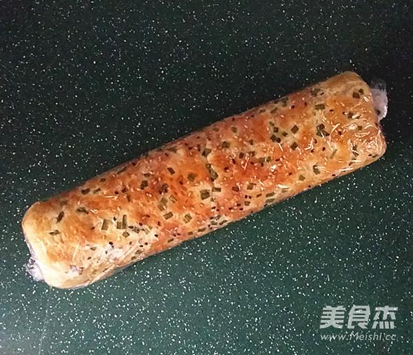 香葱肉松面包卷的制作
