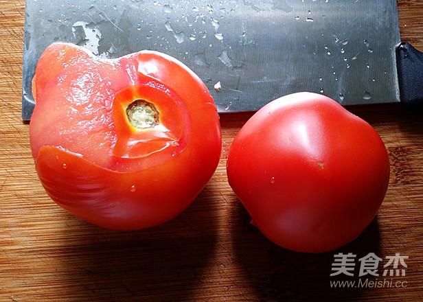 蟹黄豆腐烩番茄的步骤