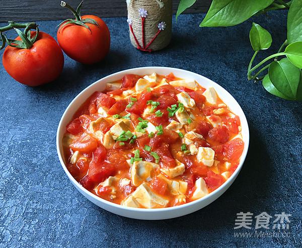 蟹黄豆腐烩番茄成品图