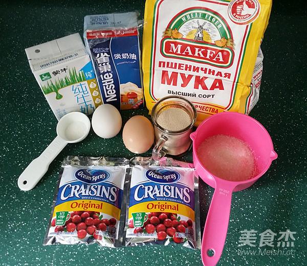 蔓越莓牛奶卷(一次揉面、淡奶油版)的做法大全