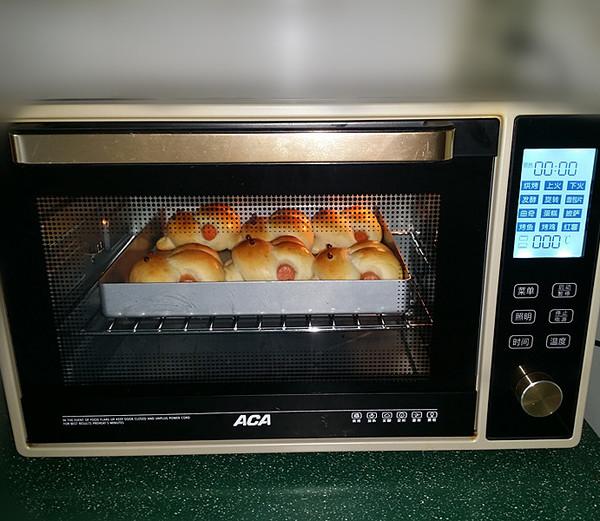 呆萌小兔子面包的制作方法