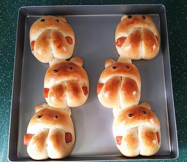 呆萌小兔子面包的制作大全