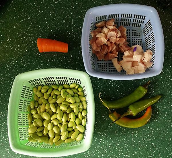 杭椒毛豆米小炒肉的做法大全