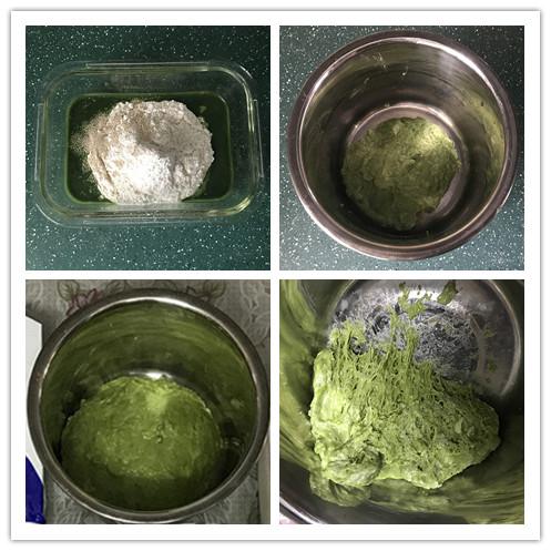 菠菜蜜豆软欧包的做法图解