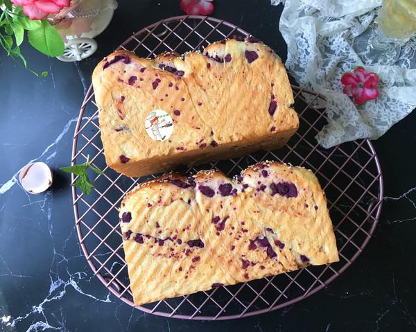 紫薯辫子面包的制作