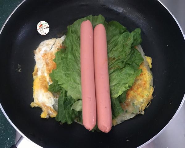 火腿肠葱油饼怎么煮
