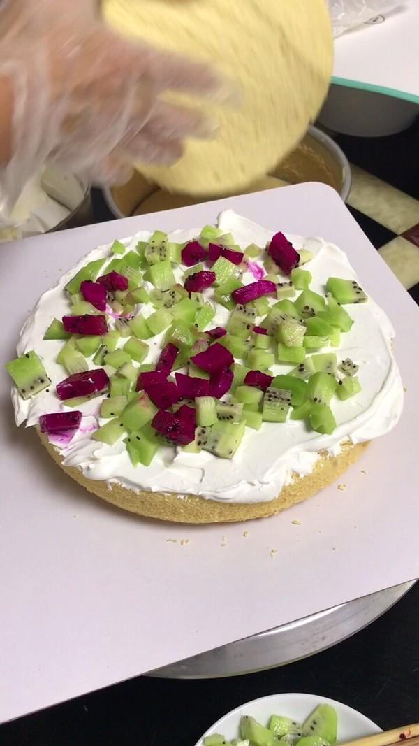 自制水果生日蛋糕的做法图解