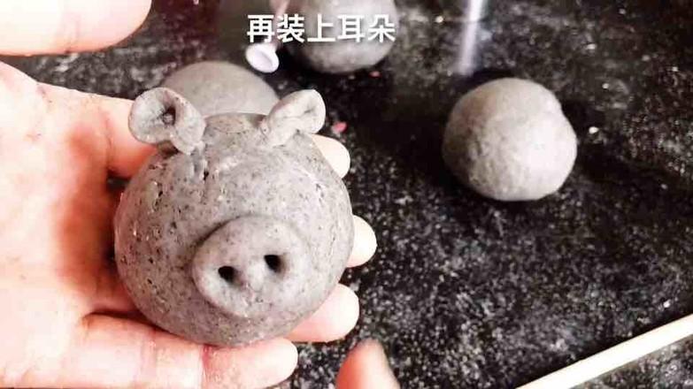 鲜花小猪馒头的做法图解