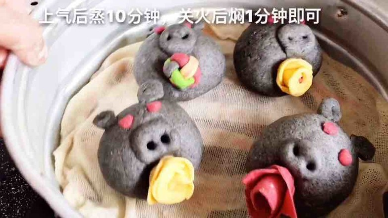 鲜花小猪馒头怎么吃