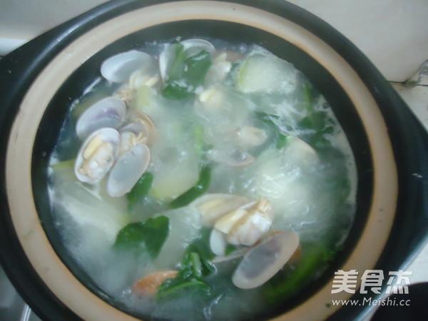 蛤蜊冬瓜青菜汤的简单做法