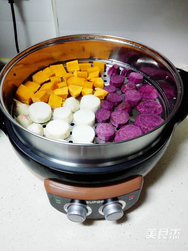 鲜芋仙之三色芋圆的做法图解