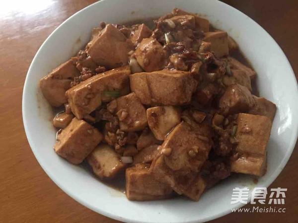 肉末香菇酱烧嫩豆腐的家常做法