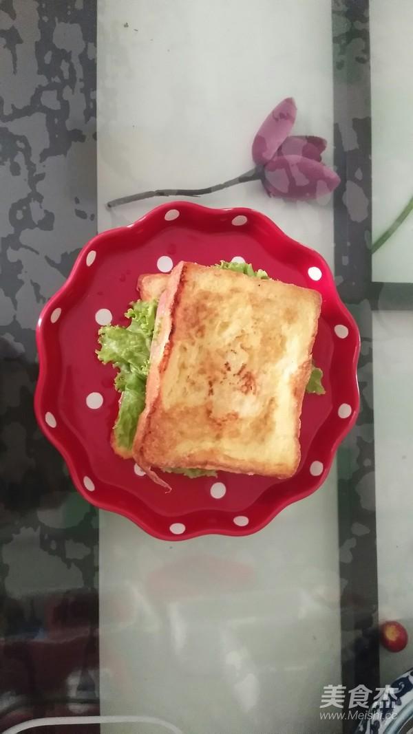 火腿三明治怎么煸