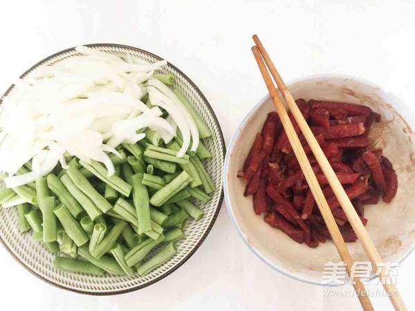 蒜蓉豆角牛肉焖面的做法图解