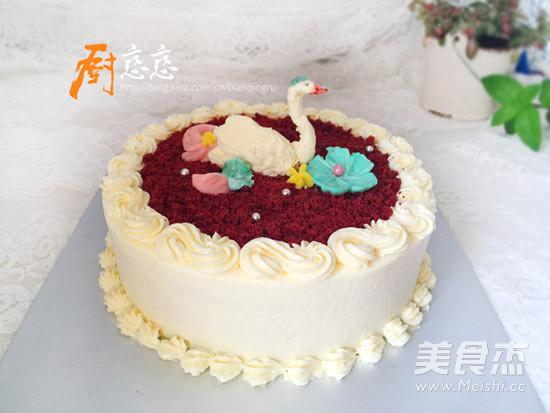 红丝绒蛋糕成品图