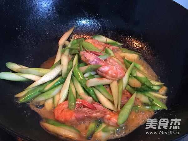 芦笋烧虾怎么做