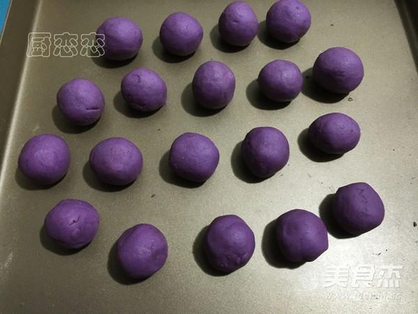 紫薯红豆球的步骤