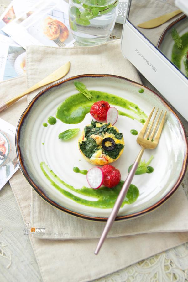 蔬菜烘蛋成品图