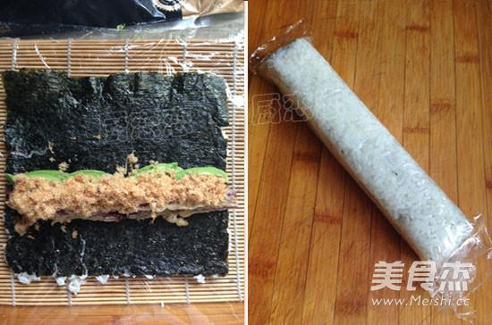 肉蛋三文鱼寿司的简单做法
