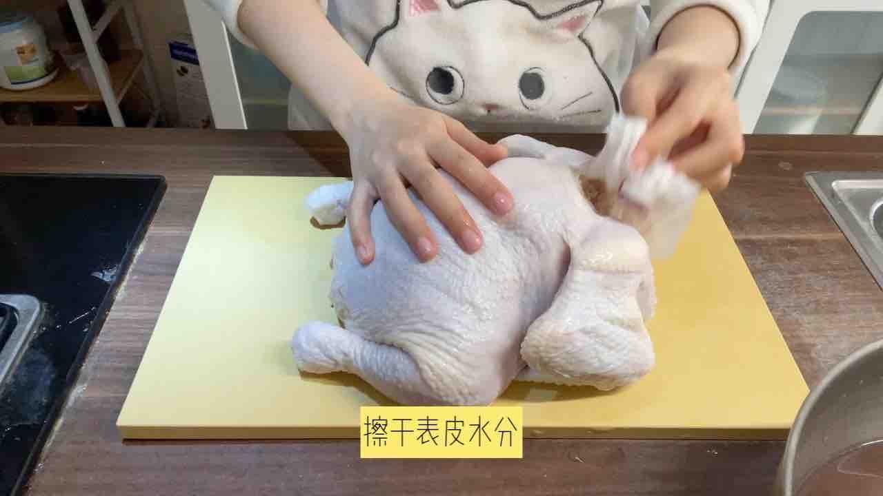用最嫩的童子鸡 烤最想的脆皮烤鸡的家常做法