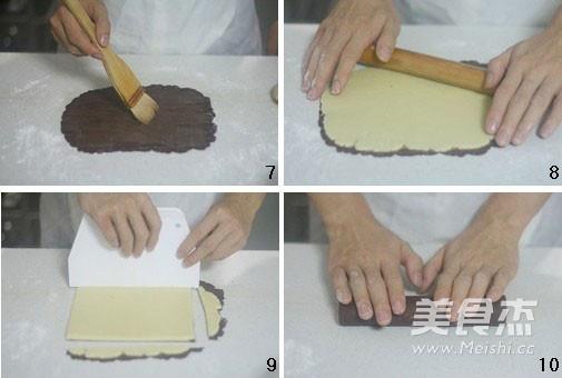 黑纹奶酪饼干的做法图解