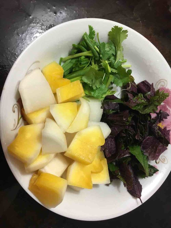 紫苏炒鸭肉的做法图解
