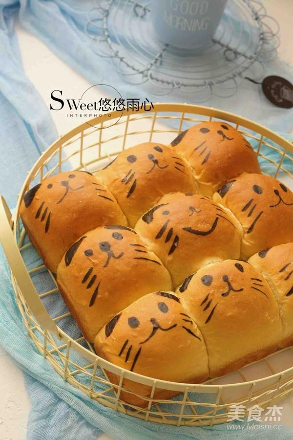 萌萌哒挤挤面包(一次性发酵)成品图