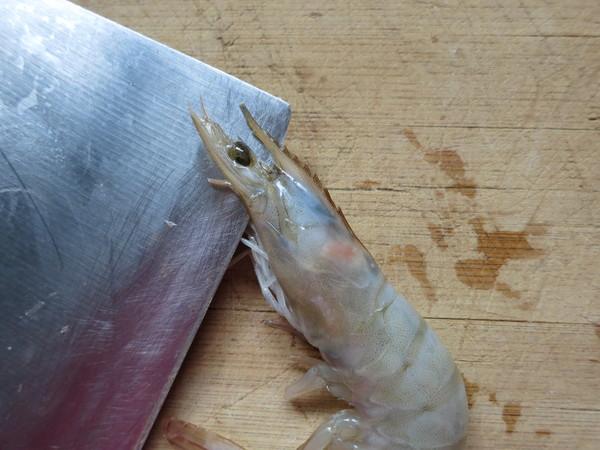 翘尾巴的金银蒜蓉开背虾怎样炖