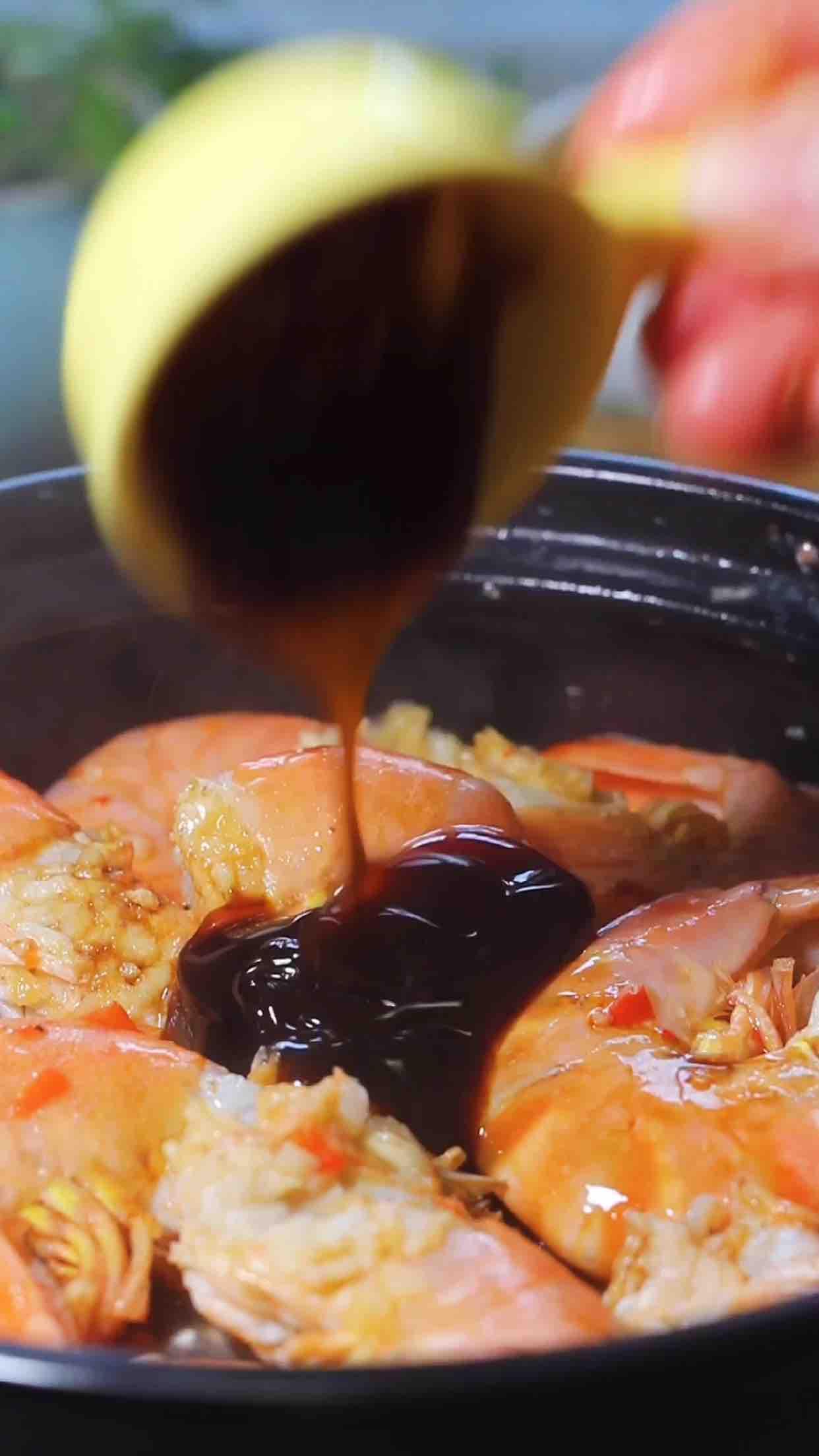 大虾粉丝煲怎么吃
