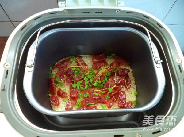 腊肠煲仔饭(面包机版)怎么煮