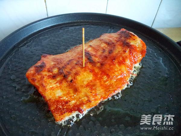 香煎猪颈肉的步骤
