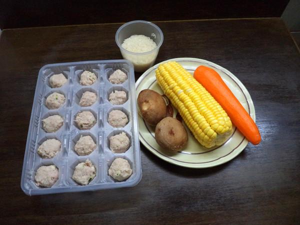 香菇粟米肉丸粥的做法大全