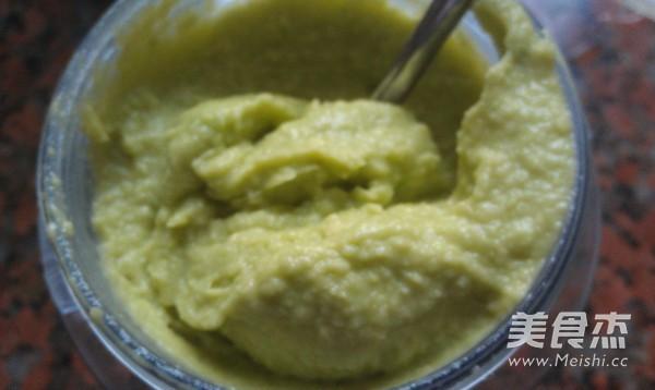 牛油果拌薯茸的步骤