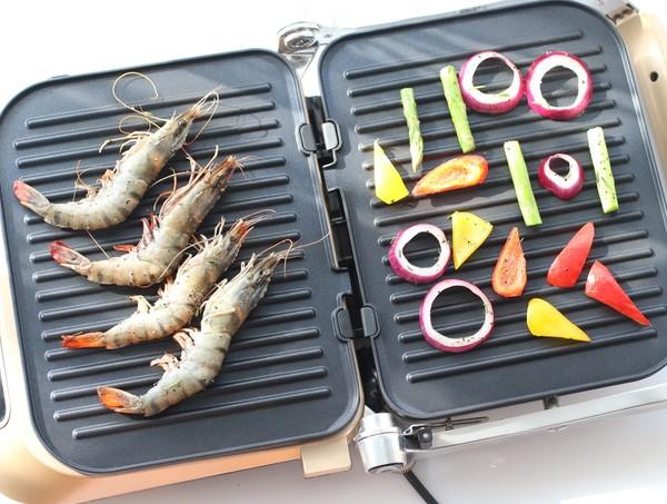 煎烤迷迭香大虾怎么做