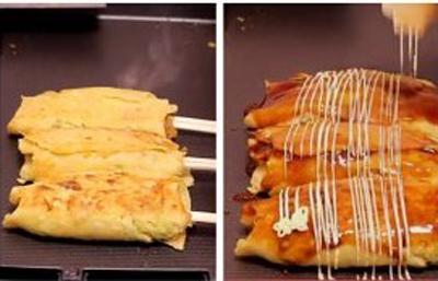 布橹糕饮之筷子卷大阪烧怎么做