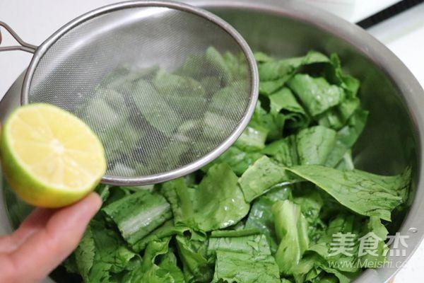 炝拌油麦菜的家常做法