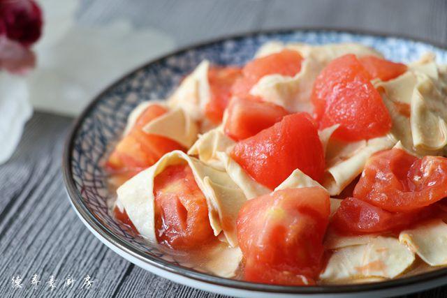 西红柿豆腐皮成品图