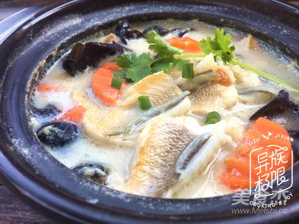 豆浆黄鱼汤成品图